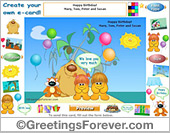 Design an eCard for a birthday or for any other occasion