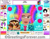 Create a Pop Birthday eCard for women