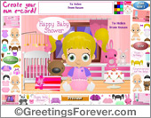 Ecards: Girl Baby Shower ecard