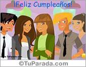 Tarjeta - Feliz Cumpleaños de grupo