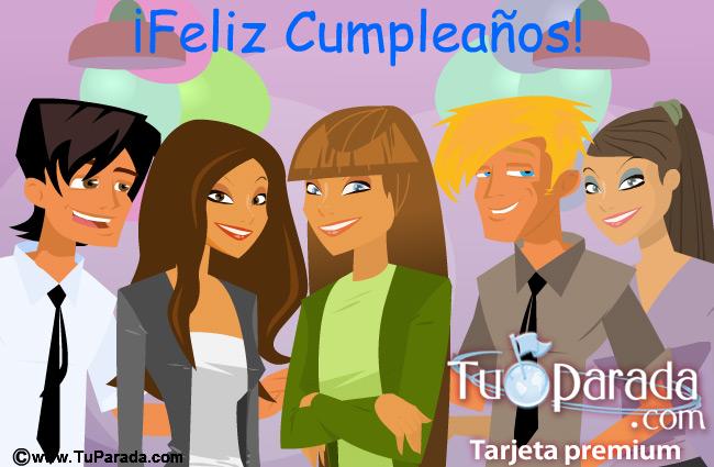 Feliz Cumpleaños de grupo, Sofía y Amigos, tarjetas