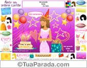 Monte um cartão de aniversário