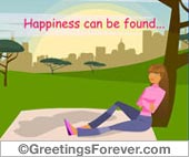 Ecards: Happiness can be found...