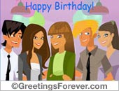 Greeting ecards: Happy Birthday!