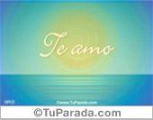 Tarjeta - Te amo, I love you, Eu te amo, Ti amo...