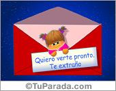 Tarjeta - Tarjeta de Quiero verte pronto
