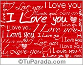 Tarjetas postales: I love you
