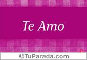 Tarjetas postales: Te amo en lila