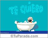 Tarjetas postales: Te quiero con burbujas