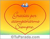 Amor - Tarjetas postales: Tarjeta de gracias por...