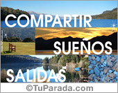 Tarjeta - Tarjeta romántica con paisajes