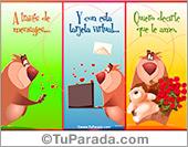 Tarjeta con oso para decir te amo