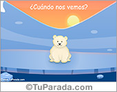 Tarjetas postales: Tarjeta de te extraño de osito polar
