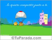 San Valentín - Tarjetas postales: Paracaídas