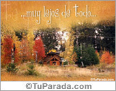Paisajes - Tarjetas postales: Muy lejos de todo...