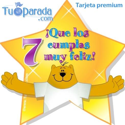 7 a os cumplea os para cada edad tarjetas - Ideas cumpleanos nina 7 anos ...