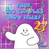 Cumpleaños para cada edad - Tarjetas postales: 27 Años