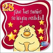 Cumpleaños para cada edad - Tarjetas postales: 28 Años
