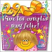 Cumpleaños para cada edad - Tarjetas postales: 29 Años