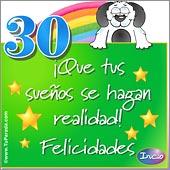 Cumpleaños para cada edad - Tarjetas postales: 30 Años
