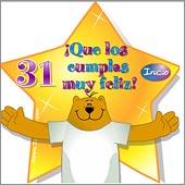 Cumpleaños para cada edad - Tarjetas postales: 31 Años