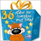 Cumpleaños para cada edad - Tarjetas postales: 36 Años