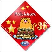 Cumpleaños para cada edad - Tarjetas postales: 38 Años