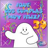 Cumpleaños para cada edad - Tarjetas postales: 39 Años