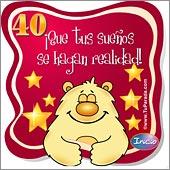 Cumpleaños para cada edad - Tarjetas postales: 40 Años