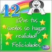 Cumpleaños para cada edad - Tarjetas postales: 42 Años
