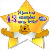 Cumpleaños para cada edad - Tarjetas postales: 43 Años