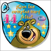 Cumpleaños para cada edad - Tarjetas postales: 44 Años
