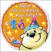 Cumpleaños para cada edad - Tarjetas postales: 46 Años