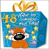 Cumpleaños para cada edad - Tarjetas postales: 48 Años