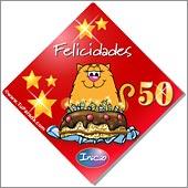 Cumpleaños para cada edad - Tarjetas postales: 50 Años
