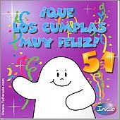 Cumpleaños para cada edad - Tarjetas postales: 51 Años