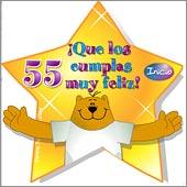 Cumpleaños para cada edad - Tarjetas postales: 55 Años