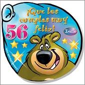 Cumpleaños para cada edad - Tarjetas postales: 56 Años