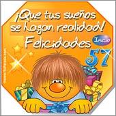 Cumpleaños para cada edad - Tarjetas postales: 57 Años