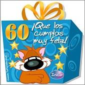 Cumpleaños para cada edad - Tarjetas postales: 60 Años