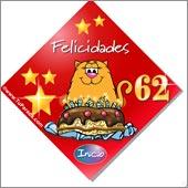 Cumpleaños para cada edad - Tarjetas postales: 62 Años