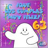 Cumpleaños para cada edad - Tarjetas postales: 63 Años