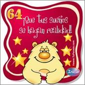 Cumpleaños para cada edad - Tarjetas postales: 64 Años