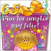 Cumpleaños para cada edad - Tarjetas postales: 65 Años
