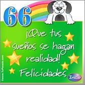 Cumpleaños para cada edad - Tarjetas postales: 66 Años