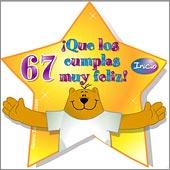 Cumpleaños para cada edad - Tarjetas postales: 67 Años