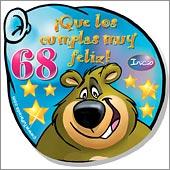 Cumpleaños para cada edad - Tarjetas postales: 68 Años