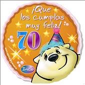 Cumpleaños para cada edad - Tarjetas postales: 70 Años