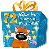 Cumpleaños para cada edad - Tarjetas postales: 72 Años
