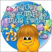 Cumpleaños para cada edad - Tarjetas postales: 73 Años